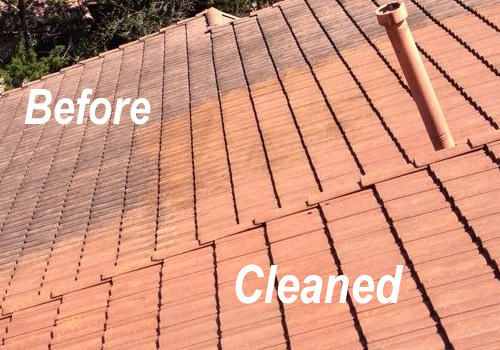 Tile Roof Cleaned