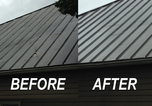 Metal Roof Cleaned